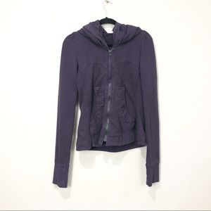 Prairie Underground Dark Purple Cloak Zip Hoodie
